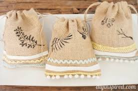 stenciled burlap sacks diy diy inspired