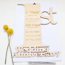 1st year wedding anniversary personalised 1st wedding anniversary card by hickory dickory