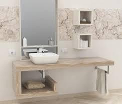 mensola lavabo da appoggio mensole per bagno mensole lavabo in legno massello su misura