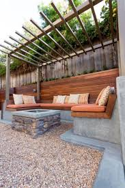 Concrete Curved Bench - bench wooden fire pit bench best fire pit seating ideas backyard