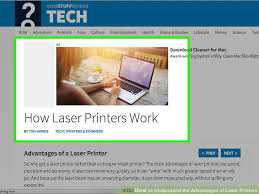 how to understand the advantages of laser printers 5 steps