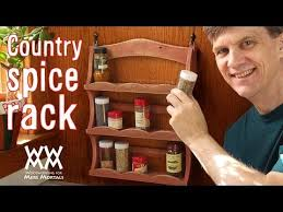 Woodworking Plans Spice Rack Country Spice Rack From Pallet Wood Recycled Charm Youtube