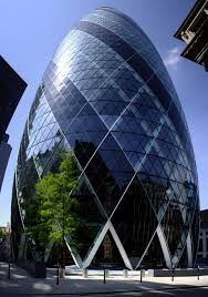 london glass building 30 st mary axe aka the gherkin london designed by sir norman