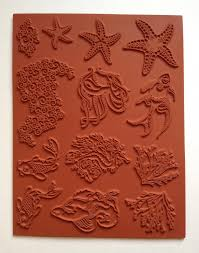 designs by ryn unmounted rubber stamp sheet sea creatures 2