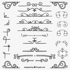 variety of ornamental decoration vector free