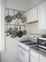 kitchen style pan rack for small kitchen design pot and pan rack