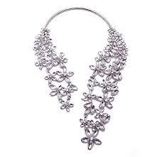 collar necklace black images Girl era attractive womens black white full rhinestone filigree jpg