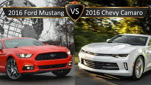 ford mustang chevy camaro 2016 chevy camaro vs ford mustang by the numbers