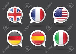 Flags Made In Usa Flags Made In France Germany Spain Italy Usa Royalty Free