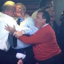Group Hug Meme - dallas cowboys jerry jones governor chris christie celebrate win