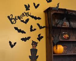 Diy Halloween Wall Decorations Bat Halloween Decoration 16 Bats Reusable Wall Decoration