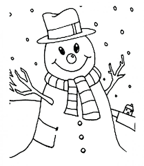frosty snowman printable coloring book free christmas pages