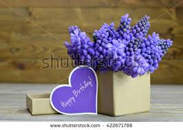 happy birthday card flowers arranged gift stock photo 422671786