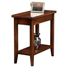hardwood 10 inch chairside end table 110 12w x 24d x 24h leick laurent narrow chairside end table