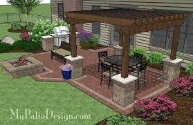Brick Patio Grill Backyard Brick Patio Design With Grill Station - Backyard grill designs