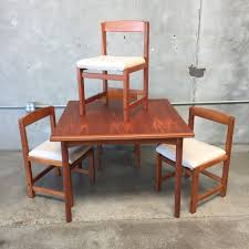 teak dining table with 4 chairs and hidden leaves u2013 urbanamericana