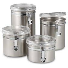 kitchen canisters stainless steel oggi stainless steel kitchen canister sets ebay