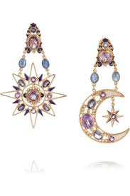 percossi papi earrings pendientes multicolor moon rise moon and