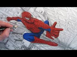 how to draw spider man above a city narrated youtube