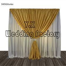 Curtains Wedding Decoration Aliexpress Com Buy White And Gold Color Wedding Decoration Stage
