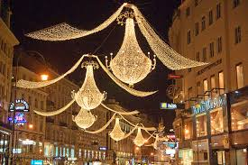christmas lights in street vienna
