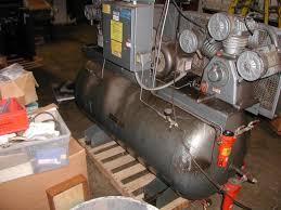 lot 59 curtis toledo es 100 7 5 hp dual air compressor with 200