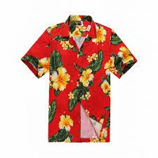 hawaiian aloha shirt in with yellow floral