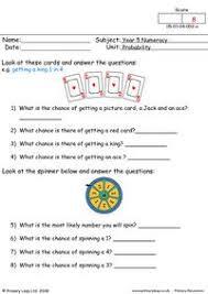 primaryleap co uk probability 1 worksheet