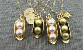 two peas in a pod jewelry custom peas in a pod necklaces groupon goods