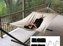 swing chair weave hammock outdoor porch yard tree cotton