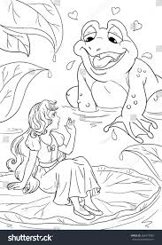 thambelina frog coloring page stock illustration 568477882