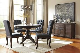 5 piece living room set 5 piece round dining table set with upholstered side chairs by