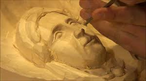 carving a in wood
