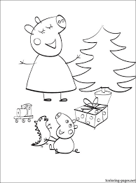 peppa pig christmas coloring coloring pages