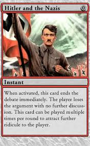 Magic Card Meme - you played the hitler card godwin s law know your meme