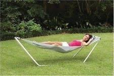 portable folding porch camping hammock lounge bed cot with stand