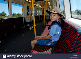 West Australia Flag Child 10 Years Old Wearing Akubra Hat And Wearing Australian Flag