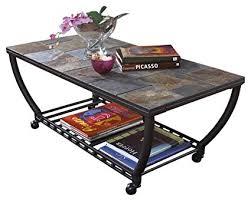 ashley antigo slate dining table amazon com ashley furniture signature design antigo coffee table