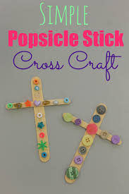 simple cross craft decoration craft and sunday