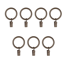 shop umbra clip ring 7 pack 1 75 in pewter steel curtain rings at