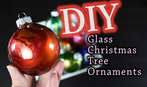 Red Mercury Glass Christmas Ornaments Diy Christmas Ornaments How To Make Glass Christmas Tree