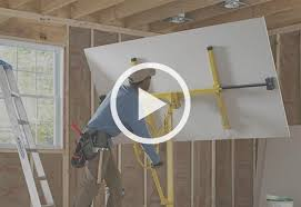 How To Sheetrock A Ceiling by How To Install A Dry Wall At The Home Depot