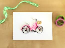 paper quilled bicycle framebicycle nurserybicycle by ivyartworks