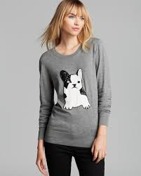 sweater with dogs on it connection sweater bulldog sequin sweaters tops with