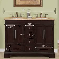48 Double Sink Bathroom Vanity by 48