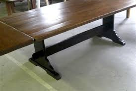 trestle base dining table the rustic harvest extension table with trestle base farmhouse with