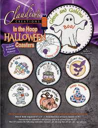 halloween coasters in the hoop halloween coasters u2013 quilting books patterns and notions