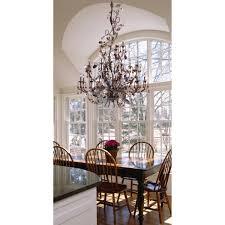 semi flush dining room light cristallo fiore 3 light semi flush in deep rust with crystal