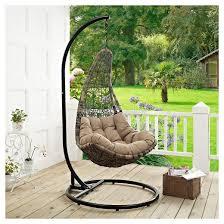 Target Patio Swing Abate Outdoor Patio Swing Chair Black Mocha Modway Target