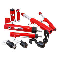 porta auto power hydraulic ram auto frame repair kit 7 pc
